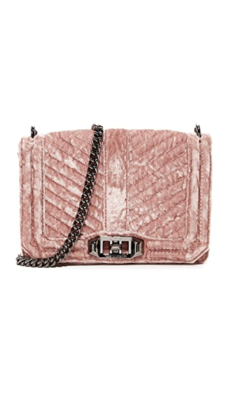 Rebecca Minkoff Chevron Quilted Small Love Cross Body Bag - Berry Smoothie