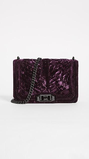 Rebecca Minkoff Маленькая стеганая сумка через плечо Love с шевронами