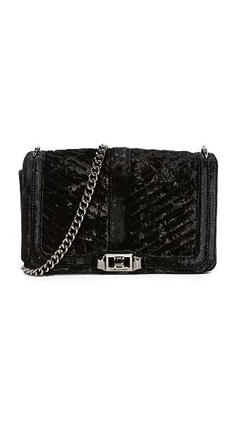 Rebecca Minkoff Chevron Quilted Love Cross Body Bag - Black