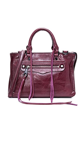Rebecca Minkoff Micro Regan Satchel - Dark Cherry