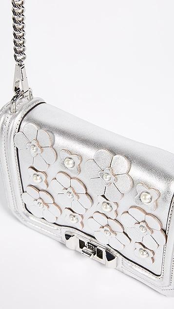Rebecca Minkoff Floral Applique Small Love Cross Body Bag