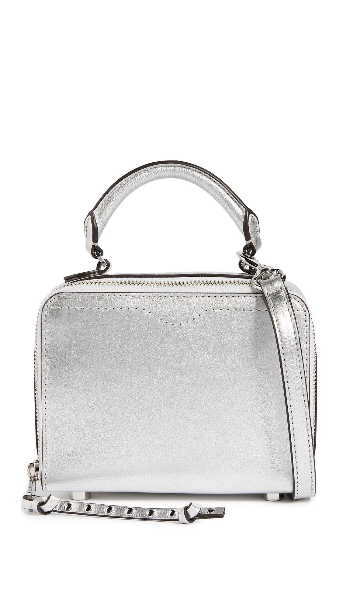 Rebecca Minkoff Box Cross Body Bag - Silver