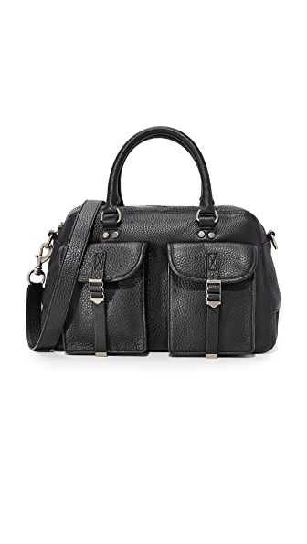 Rebecca Minkoff Military Pocket Satchel - Black