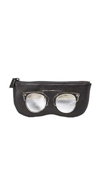 Rebecca Minkoff Aviator Sunnies Pouch In Black