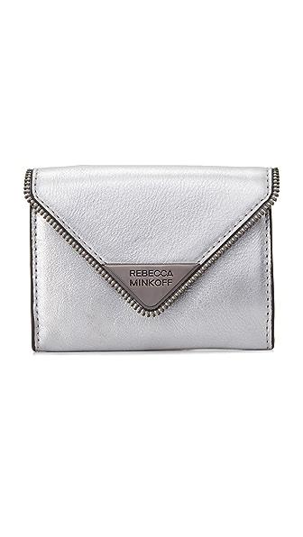 Rebecca Minkoff Molly Metro Wallet - Silver