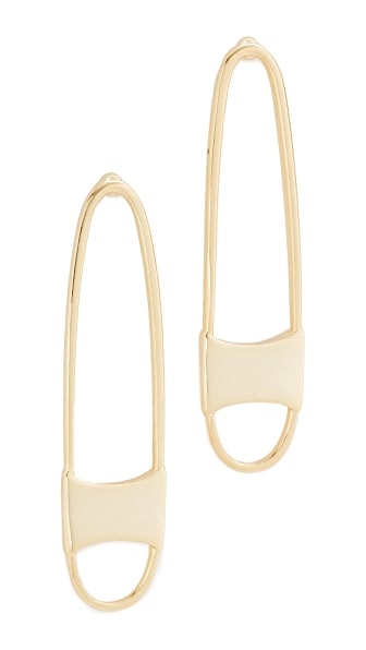 Rebecca Minkoff Runway Pin Earrings - Gold