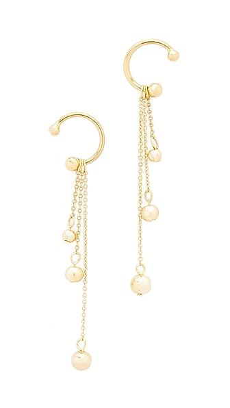 Rebecca Minkoff Linear Triple Drop Sphere Earrings