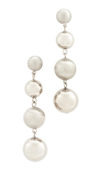 Rebecca Minkoff Statement Sphere Drop Earrings - Silver