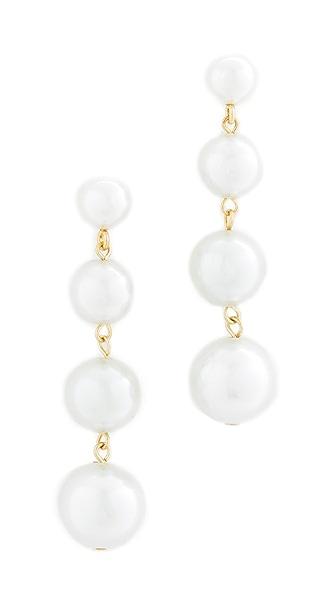 Rebecca Minkoff Statement Sphere Drop Earrings - Pearl