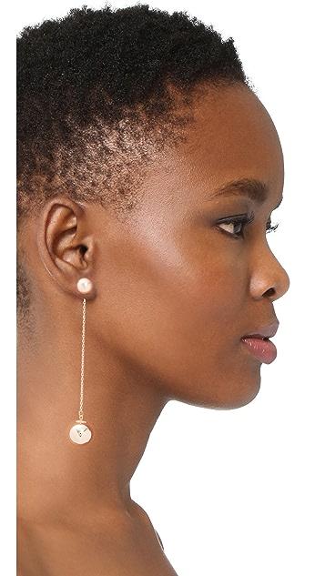 Rebecca Minkoff Sphere Front Back Earrings