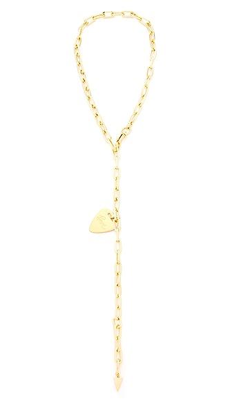 Rebecca Minkoff Love Guitar Pick Lariat Necklace