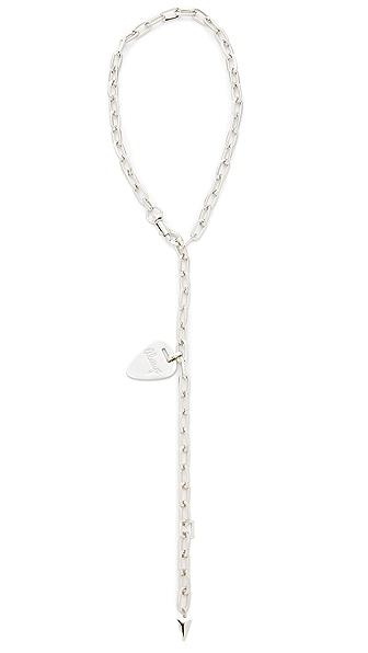 Rebecca Minkoff Always Guitar Pick Toggle Necklace - Silver