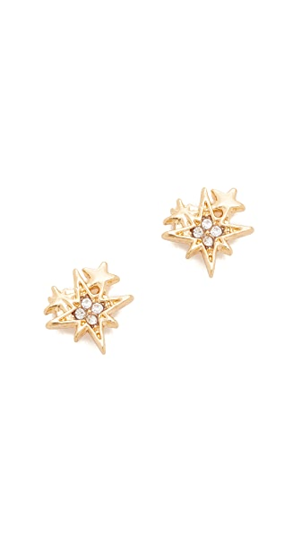 Rebecca Minkoff Stargazing Stud Earrings - Gold
