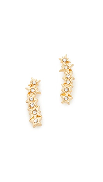 Rebecca Minkoff Stargazing Ear Crawler Earrings - Gold