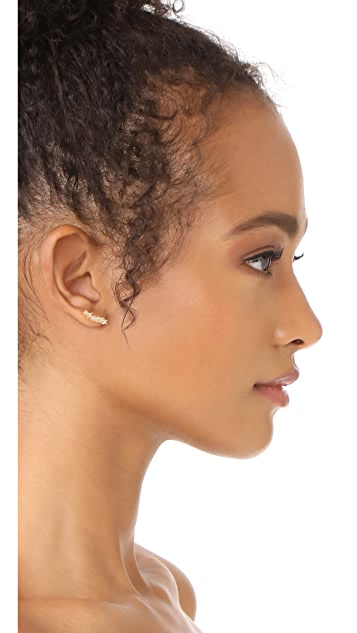 Rebecca Minkoff Stargazing Ear Crawler Earrings