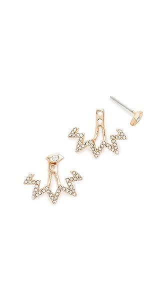 Rebecca Minkoff Stargazing Front Back Earrings In Gold