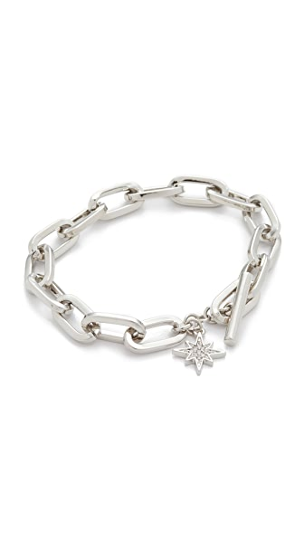 Rebecca Minkoff Signature Link Star Charm Bracelet - Silver
