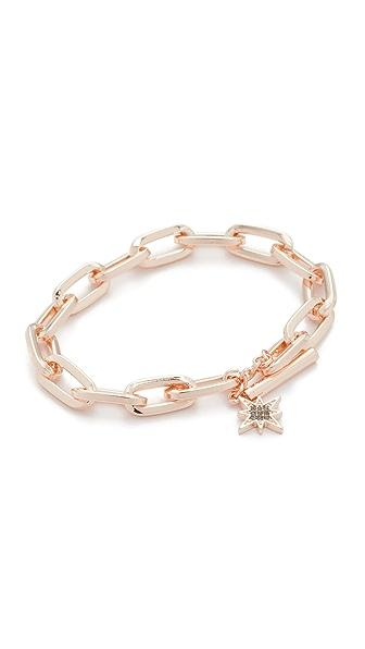 Rebecca Minkoff Signature Link Star Charm Bracelet - Rose Gold