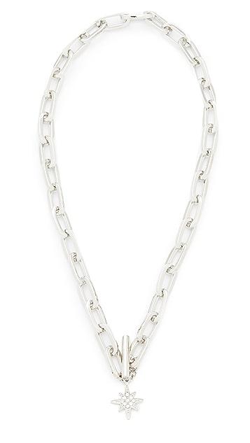 Rebecca Minkoff Signature Link Star Charm Necklace