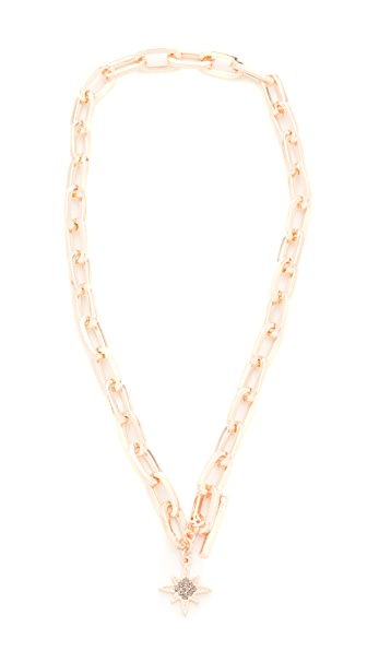 Rebecca Minkoff Signature Link Star Charm Necklace - Rose Gold
