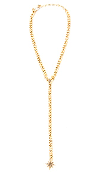 Rebecca Minkoff Stargazing Chain Lariat Necklace - Gold