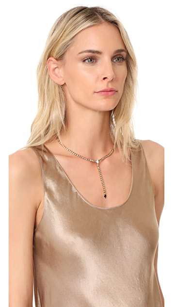 Rebecca Minkoff Clara Fringe Y Necklace