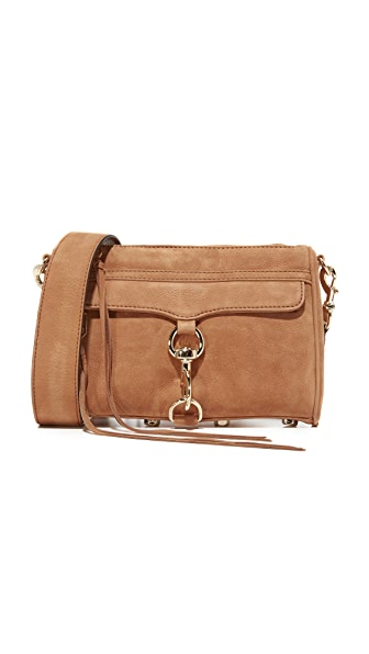 Rebecca Minkoff Mini MAC Cross Body Bag with Guitar Strap - Almond