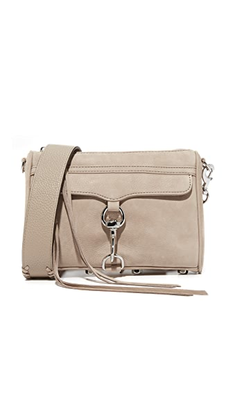 Rebecca Minkoff Mini MAC Cross Body Bag with Guitar Strap - Sandstone