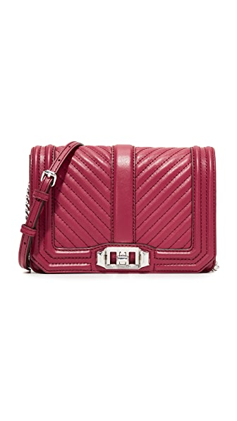 Rebecca Minkoff Chevron Quilted Small Love Cross Body Bag - Beet
