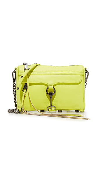Rebecca Minkoff Mini MAC Cross Body Bag - Neon Yellow