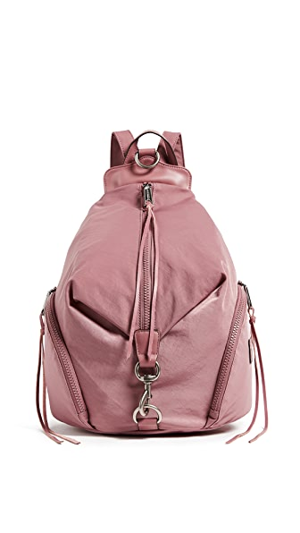 Rebecca Minkoff Nylon Julian Backpack In Smokey Rose