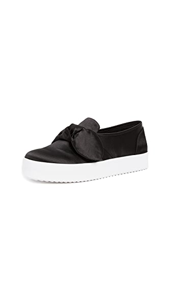 Rebecca Minkoff Stacey Bow Sneakers In Black