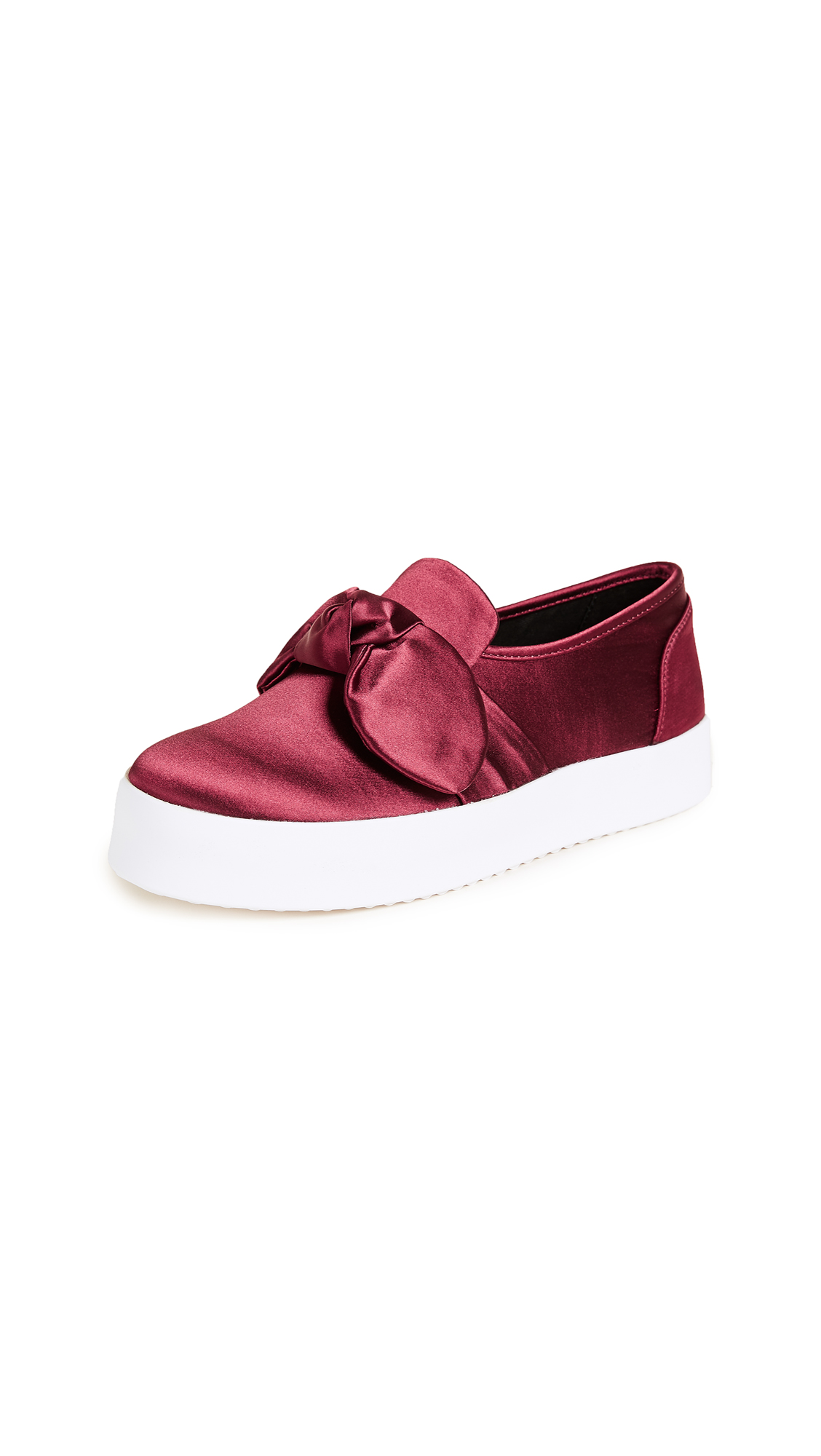 Rebecca Minkoff Stacey Bow Sneakers - Cranberry