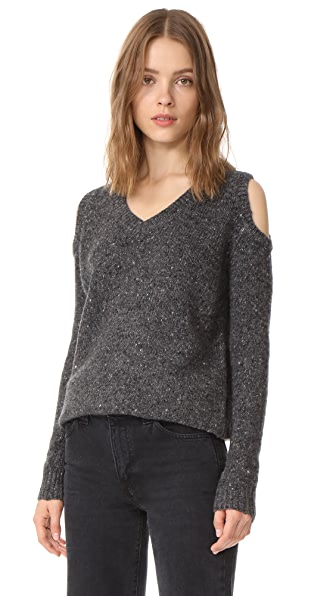 Rebecca Minkoff Page V Neck Sweater - Black