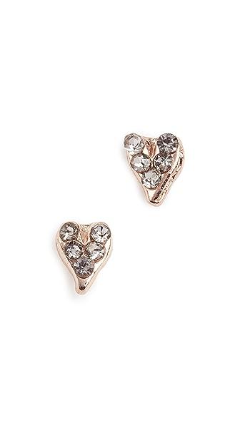 Rebecca Minkoff Baby Heart Stud Earrings In Rose Gold