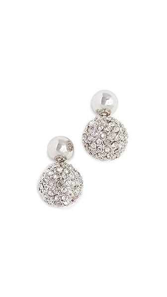 Rebecca Minkoff Mini Sphere Earrings In Silver