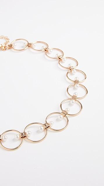 Rebecca Minkoff Encircled Floating Faux Pearls Choker