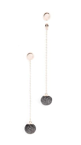 Rebecca Minkoff High Shine Pom Pom Earrings In Rose Gold