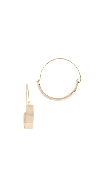 Rebecca Minkoff Thick and Thin Hoop Earrings