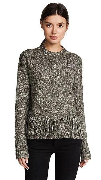 Rebecca Minkoff Neala Sweater In Military Olive Multi