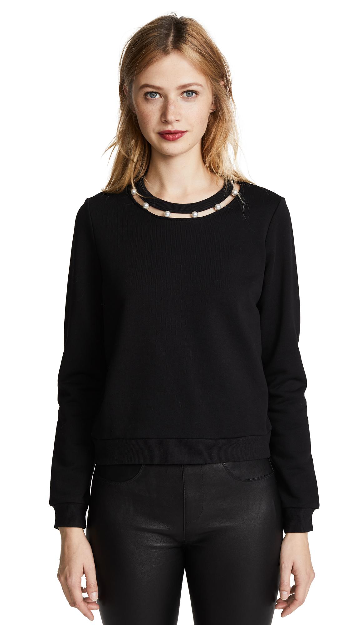 Rebecca Minkoff Open Neckline Sweatshirt - Black