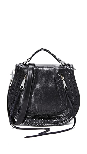 Rebecca Minkoff Small Vanity Saddle Bag - Black