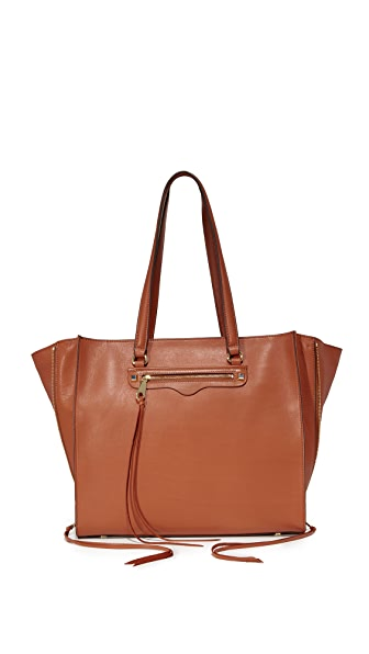 Rebecca Minkoff Side Zip Regan Tote - Almond