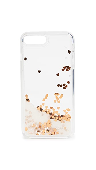 Rebecca Minkoff Confetti Hearts iPhone 7 Plus / 8 Plus Case In Mini Pearls/Confetti Hearts