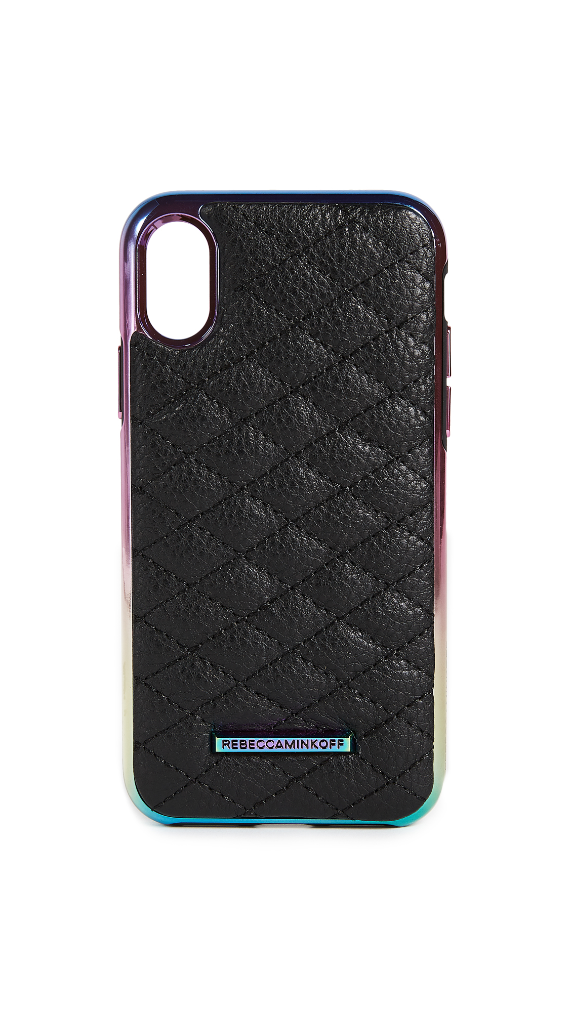 Rebecca Minkoff Quilted Love Oil Slick iPhone X Case - Black Oil Slick