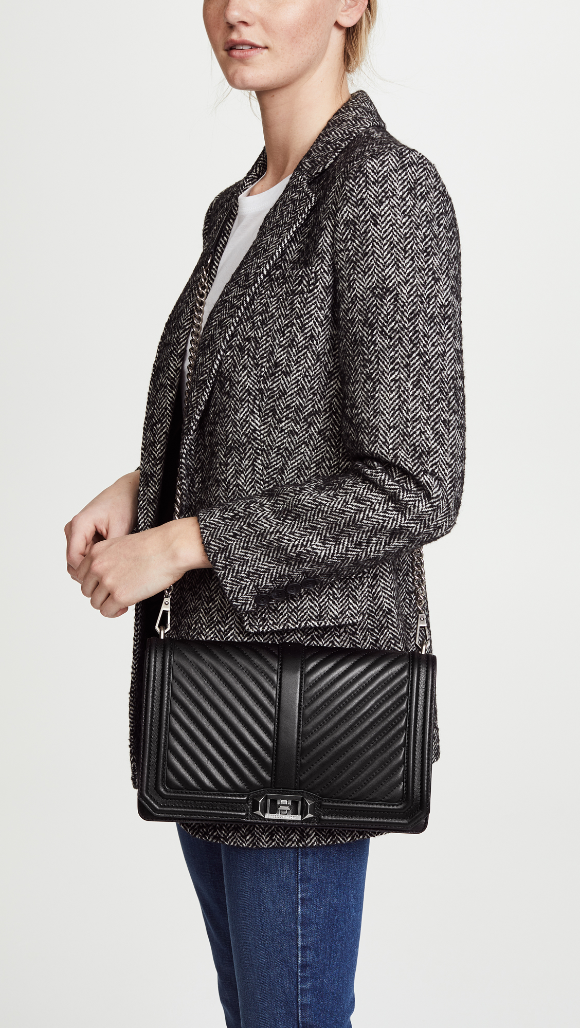 6b189c76e Rebecca Minkoff Chevron Quilted Slim Love Cross Body Bag | SHOPBOP