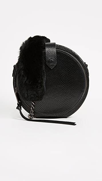 Rebecca Minkoff Mini Canteen Bag with Fur Strap