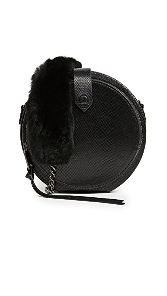 Rebecca Minkoff Mini Canteen Bag with Fur Strap