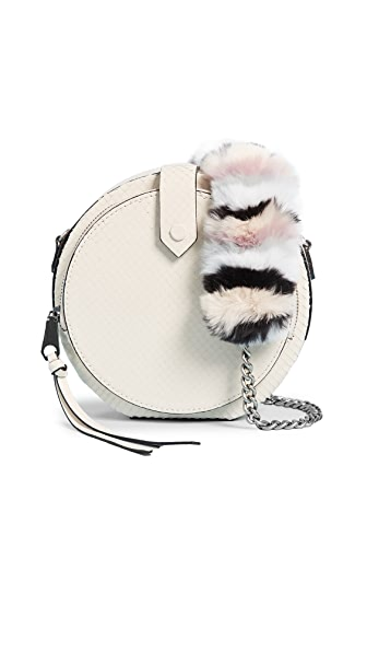 Rebecca Minkoff Mini Canteen Bag with Multi Fur Strap