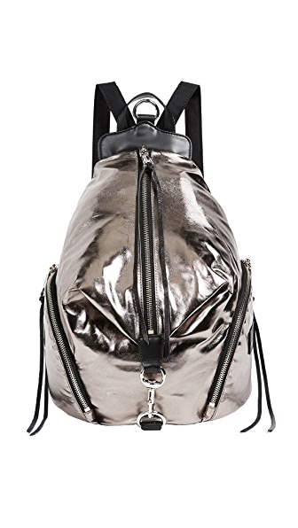 Rebecca Minkoff Julian Nylon Backpack In Silver